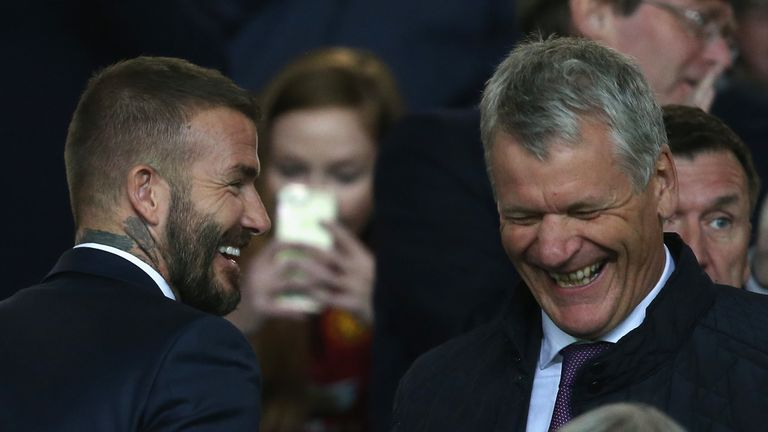 Beckham says he has sought advice from former Manchester United chief executive David Gill