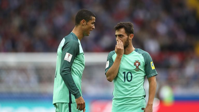 Bernardo Silva believes he still has a long way to go before he can be compared to Portuguese team-mate Cristiano Ronaldo