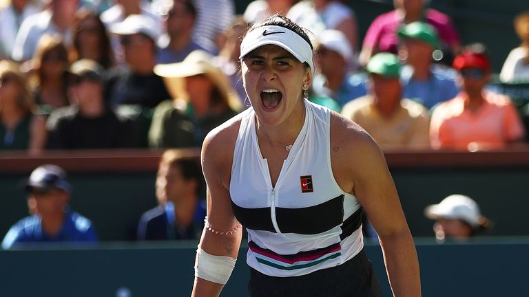 Bianca Andreescu won her first career title at Indian Wells on Sunday