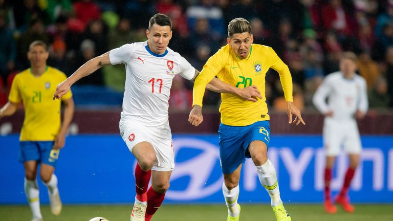 Roberto Firmino scored Brazil's equaliser in Prague