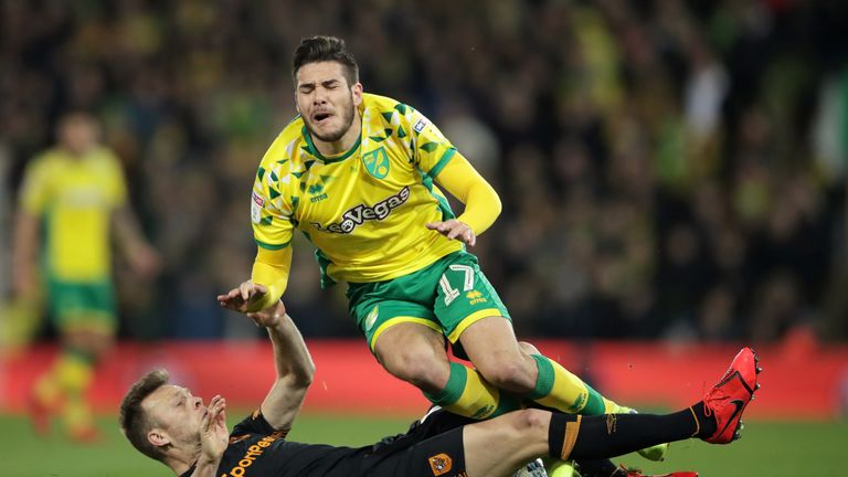 Emi Buendia has been fouled more times than any other Norwich player