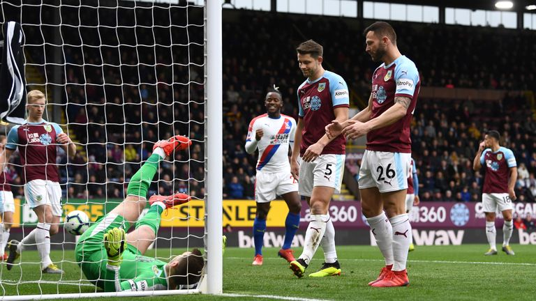 Burnley have now lost three straight games in the Premier League - against Newcastle, Crystal Palace and Liverpool