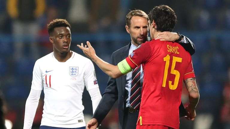 Callum Hudson-Odoi was subjected to racist abuse when England played in Montenegro in March