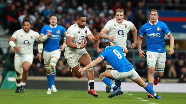 Joe Cokanasiga was in exceptional form for England against Italy