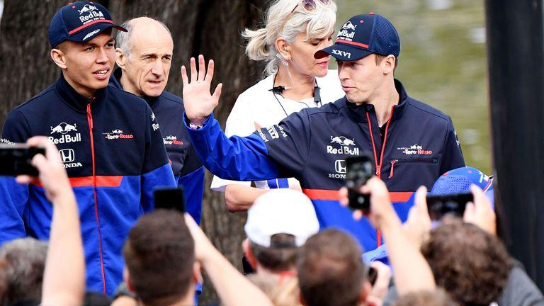 The Toro Rosso boys make their entrance