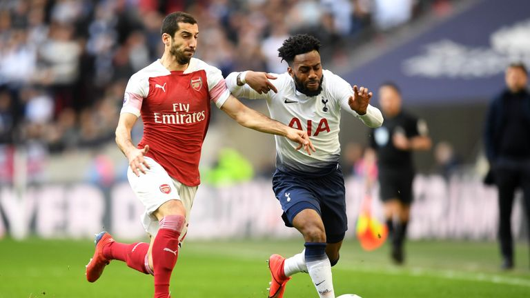 Rose finished the north London derby in a central midfield role
