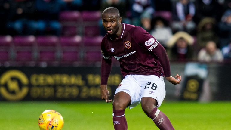 Dikamona has proved popular with Hearts fans since arriving at the club