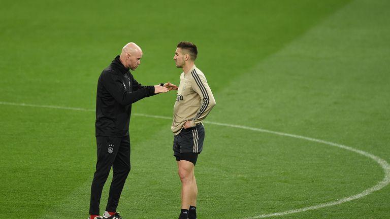 Erik ten Hag has taken some of the pressure off Tadic at Ajax