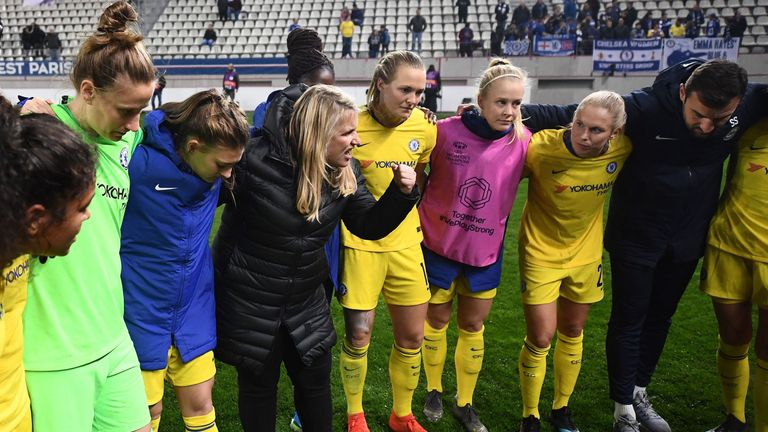 Hayes led Chelsea to the semi-finals of the Women's Champions League this season