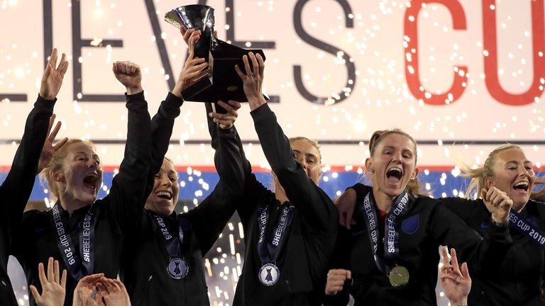 England won the SheBelieves Cup for the first time in their history last year