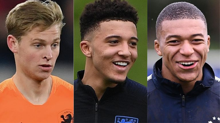 Frenkie de Jong, Jadon Sancho and Kylian Mbappe are all in action over the international break