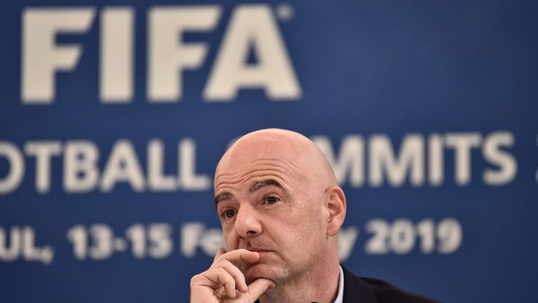 Gianni Infantino has decided to move the final vote on his World Cup plans to FIFA's annual Congress in June
