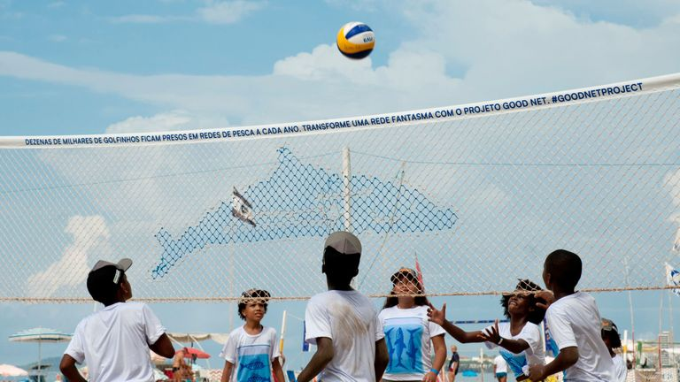 FIVB have teamed up with Ghost Fishing to launch Good Net