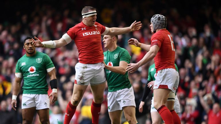 Hadleigh Parkes scored after just two minutes to set Wales on their way to a Grand Slam