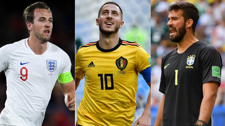 Premier League players Harry Kane, Eden Hazard and Alisson have been called up for the latest internationals