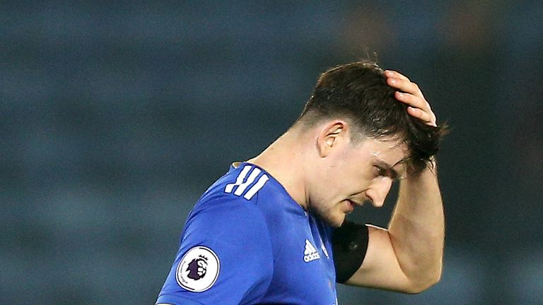 Maguire was sent off just four minutes into Leicester's win at Turf Moor before the international break