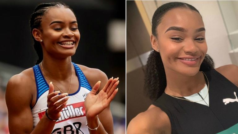 Imani Lansiquot has coped with commitments on the track and at university