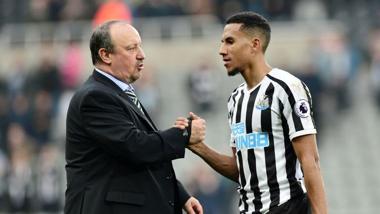 Isaac Hayden has played in all of Newcastle's past 12 Premier League games