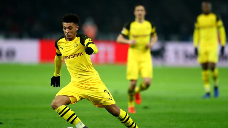 Borussia Dortmund's Jadon Sancho could be one of a number of players reporting for duty late