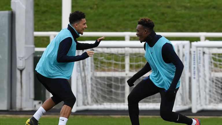 Sancho is delighted to have been joined by Callum Hudson-Odoi in the senior England set-up