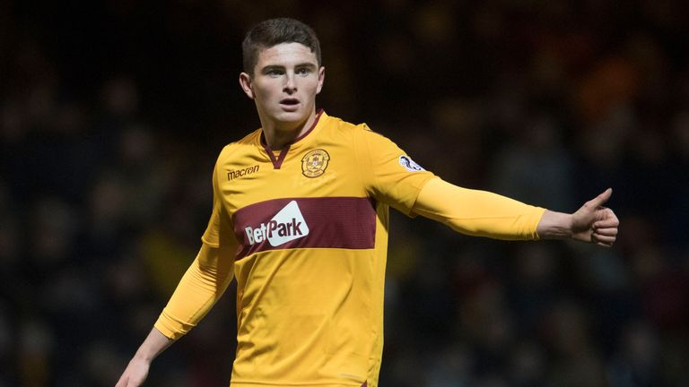 Motherwell's Jake Hastie has scored five goals in his last six games in the Scottish Premiership