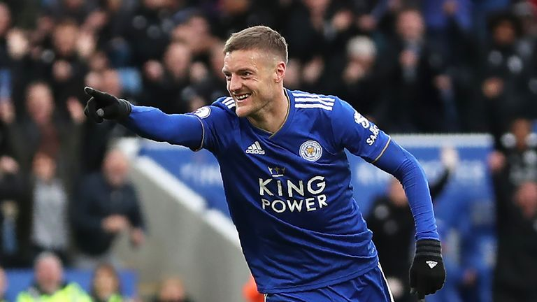 Leicester City striker Jamie Vardy has now scored five goals in his last five top-flight games