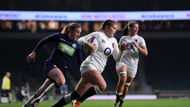 Jess Breach scores for England