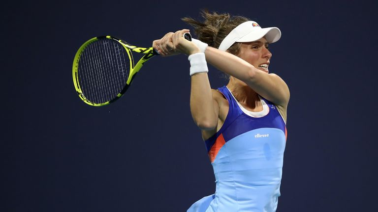 Johanna Konta won in Miami in 2017