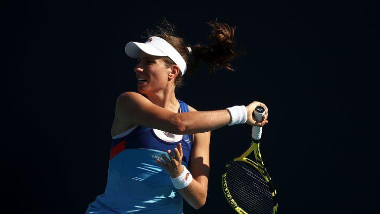 Johanna Konta out of Miami Open as Serena Williams battles through