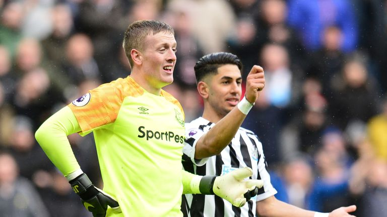 Jordan Pickford had a torrid afternoon against Newcastle