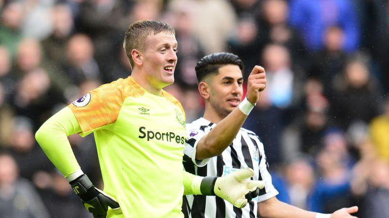 Jordan Pickford's form with Everton this season has come under scrutiny