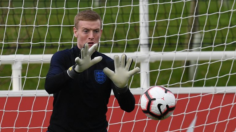Jordan Pickford has had a difficult season with Everton after starring at last summer's World Cup