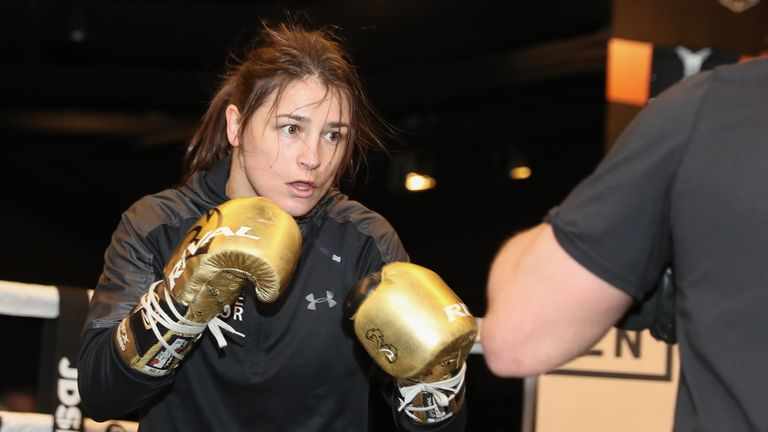 Taylor enjoys testing her skills against new sparring partners