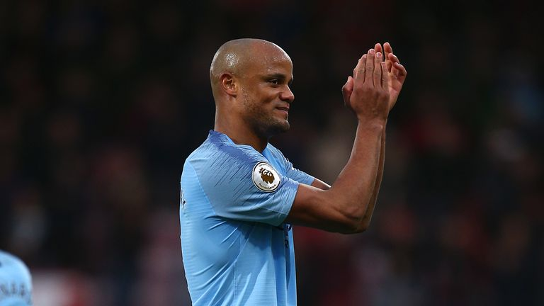 Vincent Kompany's current contract expires in the summer