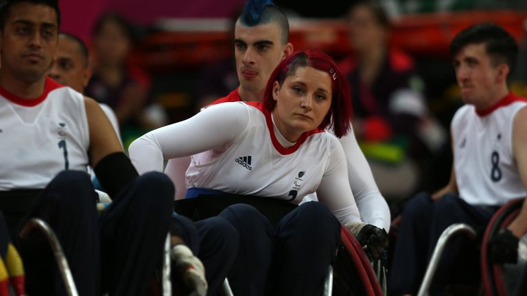 Grimes represented Team GB at the 2012 Paralympic Games