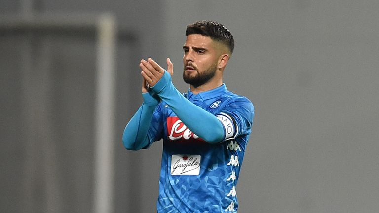 Insigne scored 14 goals in 41 appearances for Napoli this season