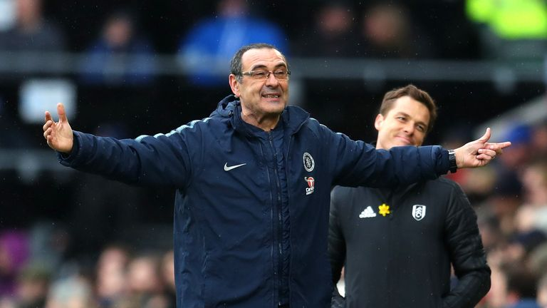 Sarri's Chelsea will find out their Europa League quarter-final opponents on Friday