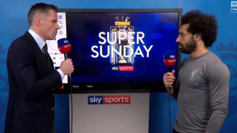 Salah spoke with Jamie Carragher after the game and hit back at his critics