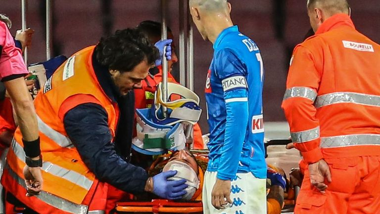 Napoli 'keeper Ospina receives treatment