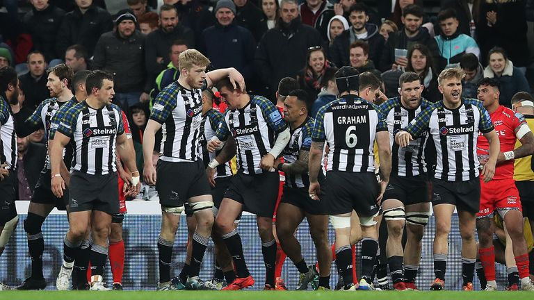 Toby Flood notched the Falcons' only try as they beat Sale at St James' Park