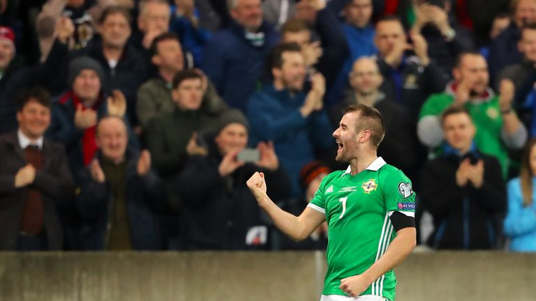 McGinn's strike was his first for Northern Ireland at Windsor Park