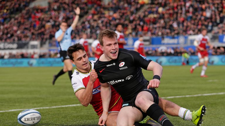 Nick Tompkins came to the fore for Saracens in the Premiership semi-final