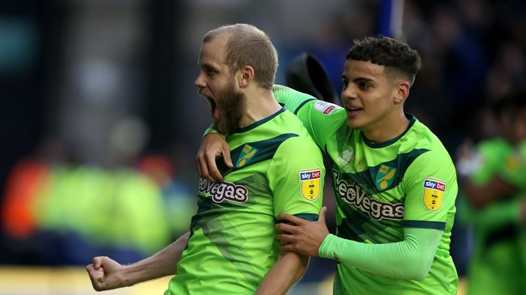 Pukki celebrates scoring for Norwich