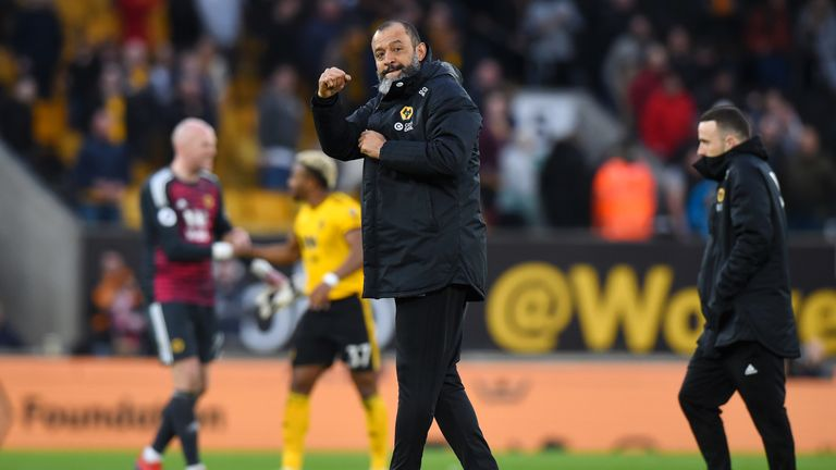 Nuno Espirito Santo's side are now comfortably in the top half
