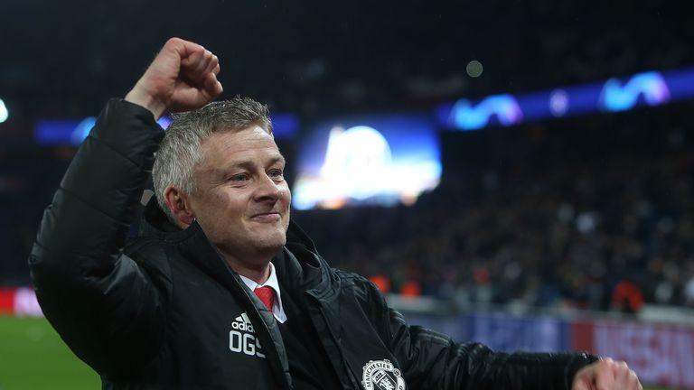 Solskjaer has led Manchester United to 14 wins from his 18 games in charge