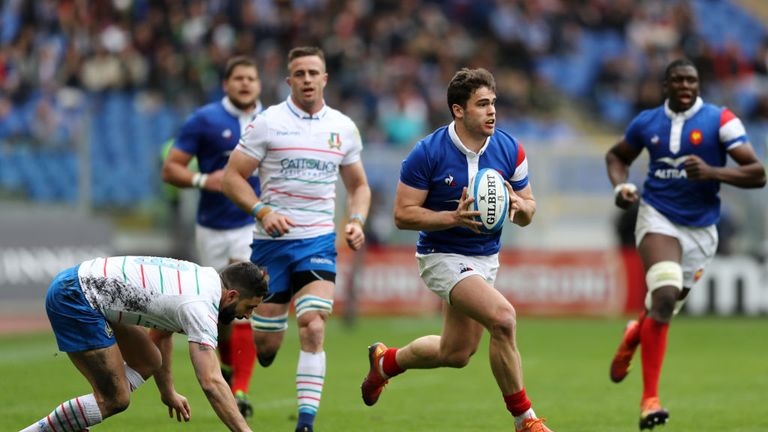 Damian Penaud scored France's final try to finish their tournament with a victory