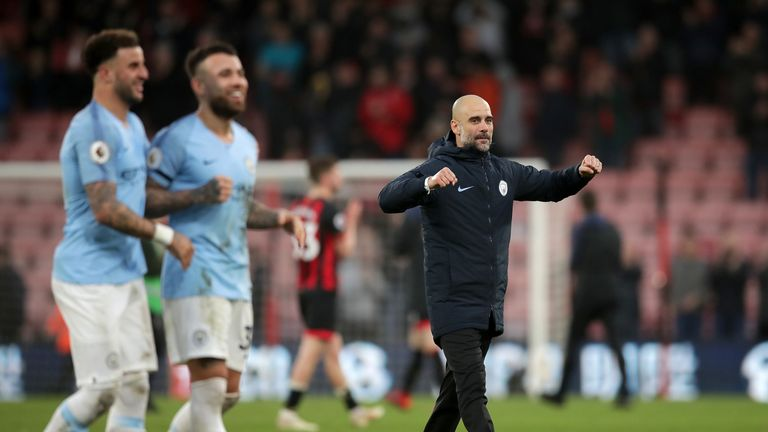 Pep Guardiola is hoping to lead his side to a second-straight Premier League title