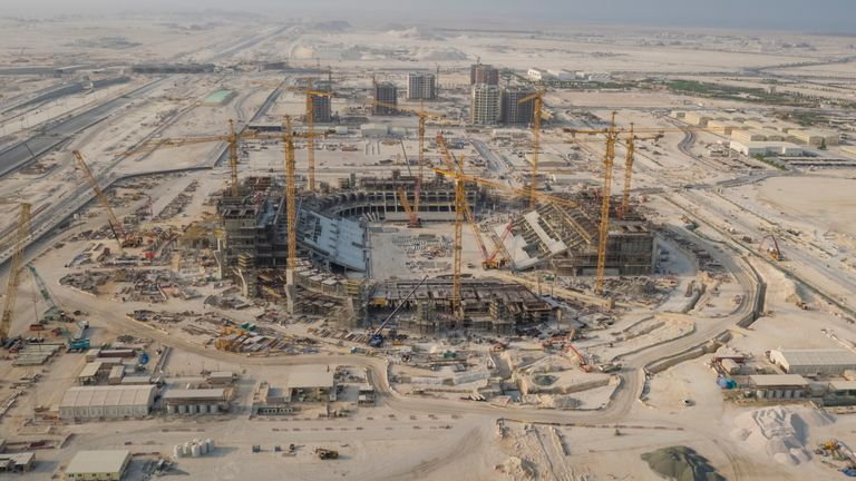 Eight stadiums are being constructed or renovated for the 2022 FIFA World Cup at a cost of $6-8 billion