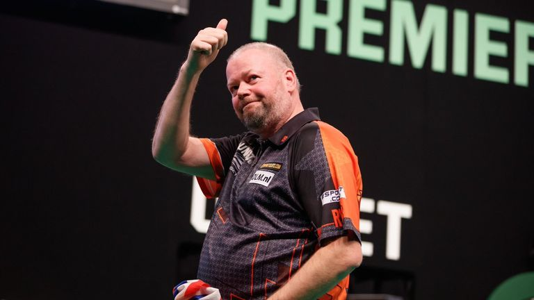 Raymond van Barneveld was featuring in a record 14th consecutive Premier League this season