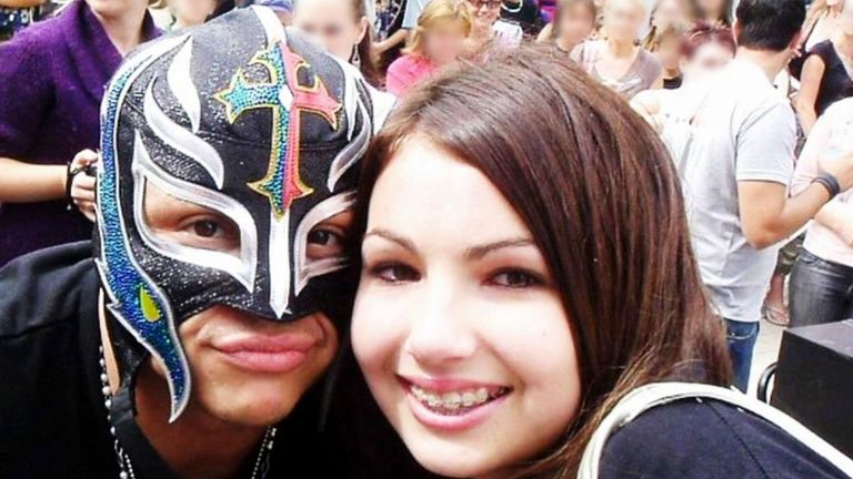 Billie Kay and Rey Mysterio - roster colleagues on SmackDown today - met up way back